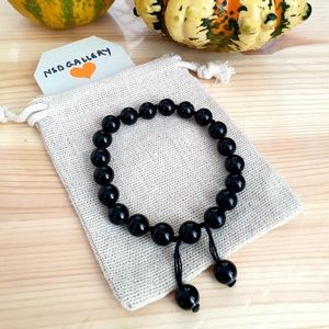 Other - Adjustable gemstone healing bracelet - Black Onxy